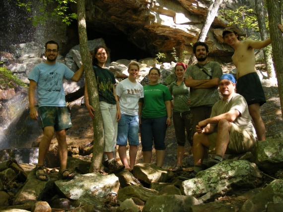 Some of us at Pigeon Mountain's Lost Wall